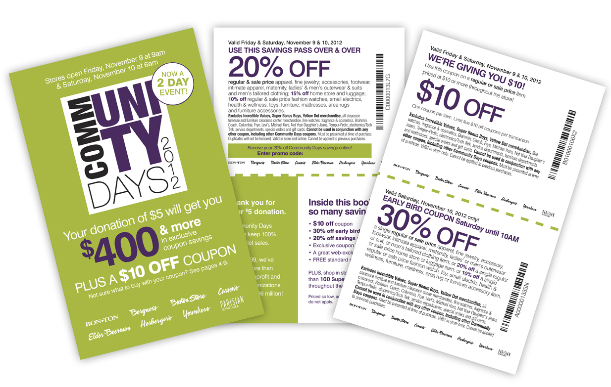 community days coupon booklet